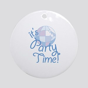 Party Time Round Ornament