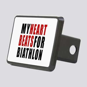 My Hear Beats For Biathlon Rectangular Hitch Cover