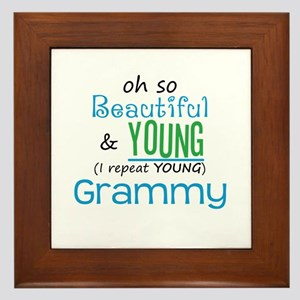 Beautiful and Young Grammy Framed Tile