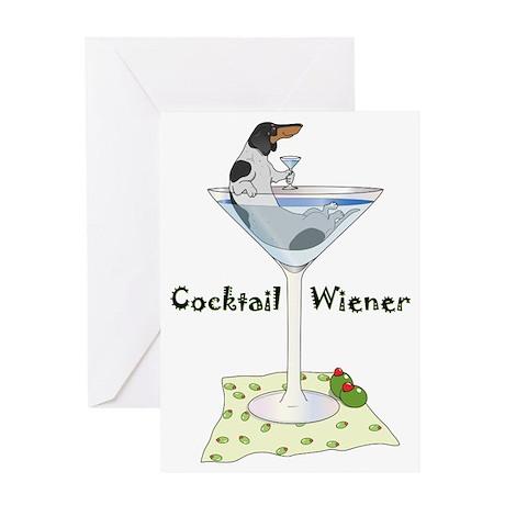 Piebald Cocktail Wiener Greeting Card