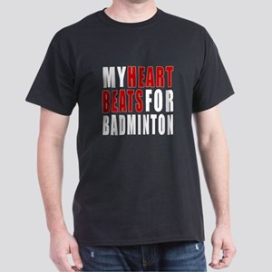 My Hear Beats For Badminton Dark T-Shirt