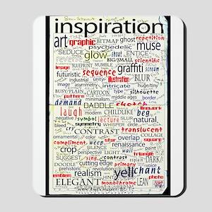 English Brainstorming Poster Mousepad