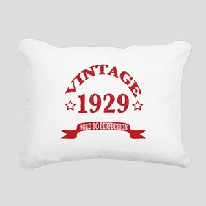 Vintage 1929 Aged To Per Rectangular Canvas Pillow
