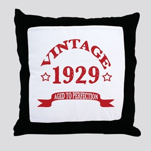 Vintage 1929 Aged To Perfection Throw Pillow