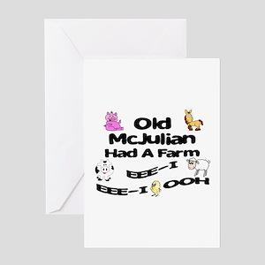 Old McJulian Had a Farm Greeting Card