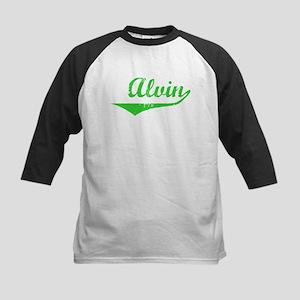 Alvin Vintage (Green) Kids Baseball Jersey