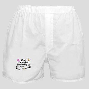 Old McKaleb Had a Farm Boxer Shorts