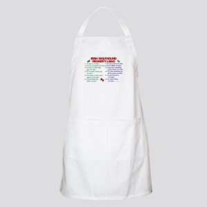 Irish Wolfhound Property Laws 2 BBQ Apron