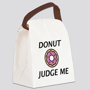 Donut Judge Me Canvas Lunch Bag