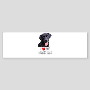 I Love My Black Lab Bumper Sticker