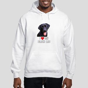 I Love My Black Lab Hooded Sweatshirt