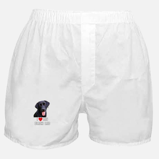 I Love My Black Lab Boxer Shorts