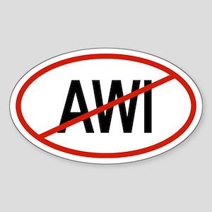 AWI Oval Sticker