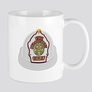 White fire chief helmet Mugs