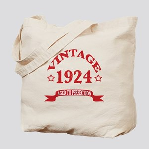 Vintage 1924 Aged To Perfection Tote Bag