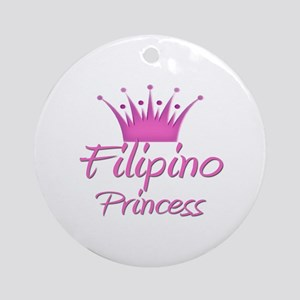 Filipino Princess Ornament (Round)