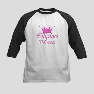 Filipino Princess Kids Baseball Jersey