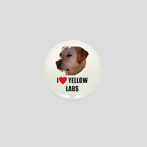 I Love Yellow Labs Mini Button