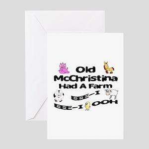 Old McChristina Had a Farm Greeting Card