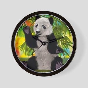 3D Rendering Panda Bear Wall Clock
