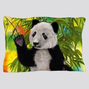 3D Rendering Panda Bear Pillow Case