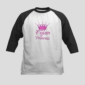 Fijian Princess Kids Baseball Jersey