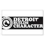 DetroitBuildsCharacter-com Sticker
