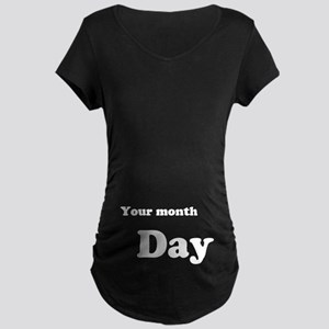 Personalize Baby Due Date Maternity T-Shirt