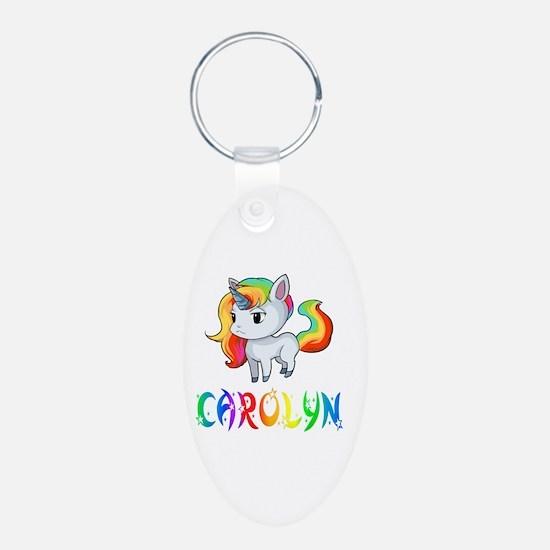 Cute Carolyn Aluminum Oval Keychain