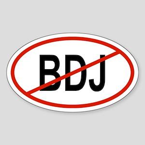 BDJ Oval Sticker