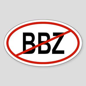 BBZ Oval Sticker