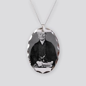 Gichin Funakoshi Necklace Oval Charm
