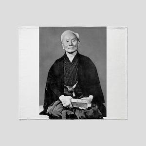 Gichin Funakoshi Throw Blanket