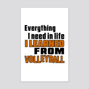 Everything I Learned From Volley Mini Poster Print