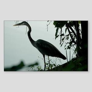 Heron Rectangle Sticker
