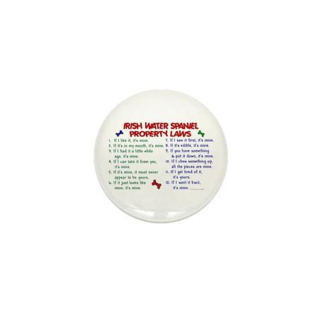 Irish Water Spaniel Property Laws 2 Mini Button (1