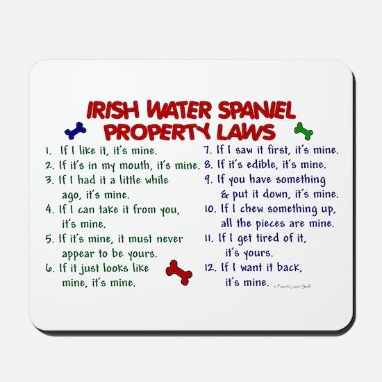 Irish Water Spaniel Property Laws 2 Mousepad