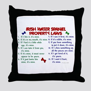 Irish Water Spaniel Property Laws 2 Throw Pillow