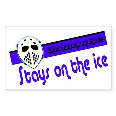 What Happens on the Ice Rectangle Sticker