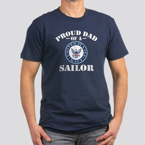 Proud Dad Of A US Navy Men's Fitted T-Shirt (dark)