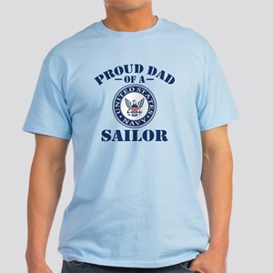 Proud Dad Of A US Navy Sailor Light T-Shirt