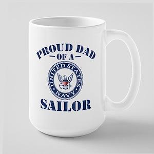 Proud Dad Of A US Navy Sailor Large Mug