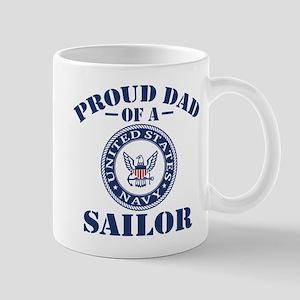 Proud Dad Of A US Navy Sailor Mug
