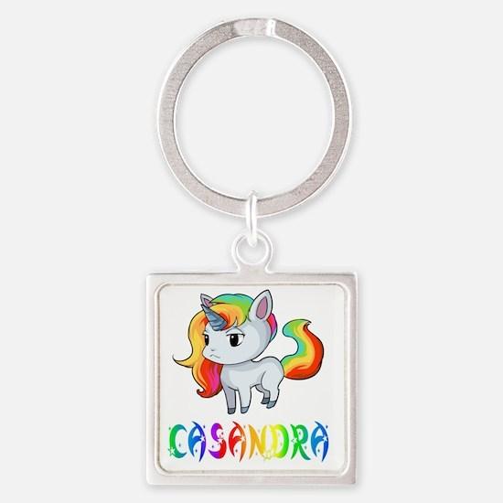Cute Casandra Square Keychain