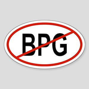 BPG Oval Sticker