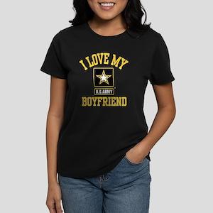 I Love My US Army Boyfriend Women's Dark T-Shirt