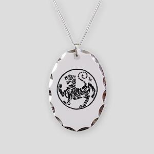 Tiger5Inchwhitecentertranspare Necklace Oval Charm