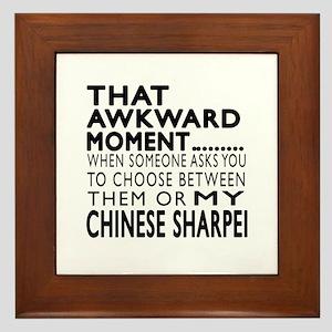 Awkward Chinese Sharpei Dog Designs Framed Tile