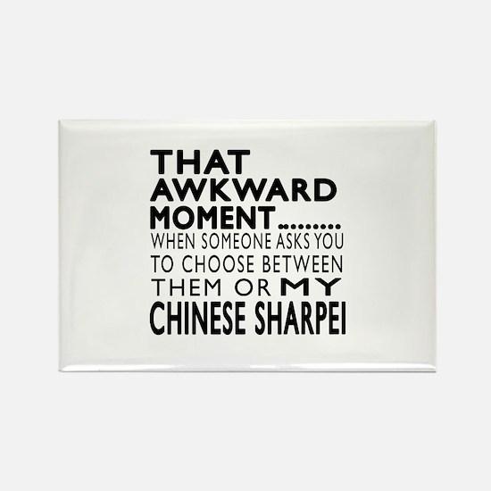 Awkward Chinese Sharpei Dog Desig Rectangle Magnet