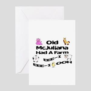 Old McJuliana Had a Farm Greeting Card